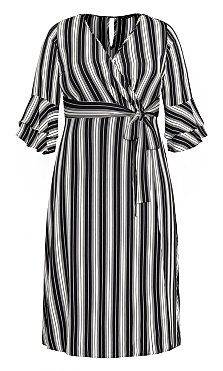 Stripe Out Dress - black
