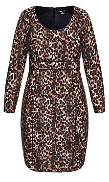 Animalistic Dress - ochre