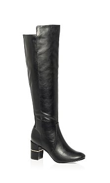 Priscilla Long Boot - black
