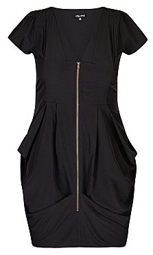 Pleated Zip Front Tunic