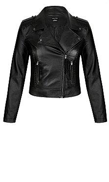 Whip Stitch Biker jacket - black