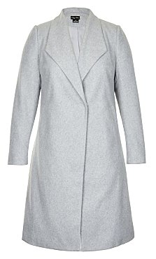 Simple Wrap Coat - grey