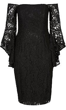 Mystic Lace Dress - black