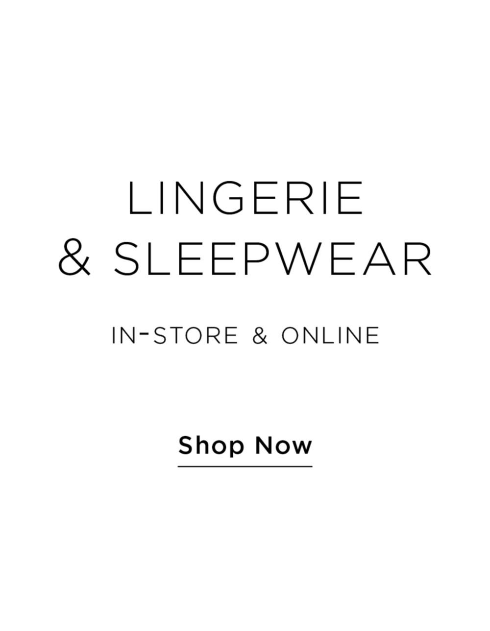 Lingerie & Sleepwear