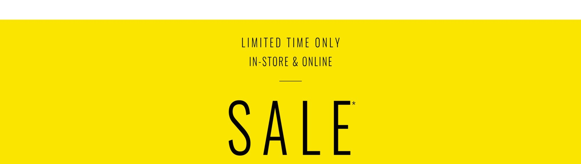 Sale - Further Markdowns
