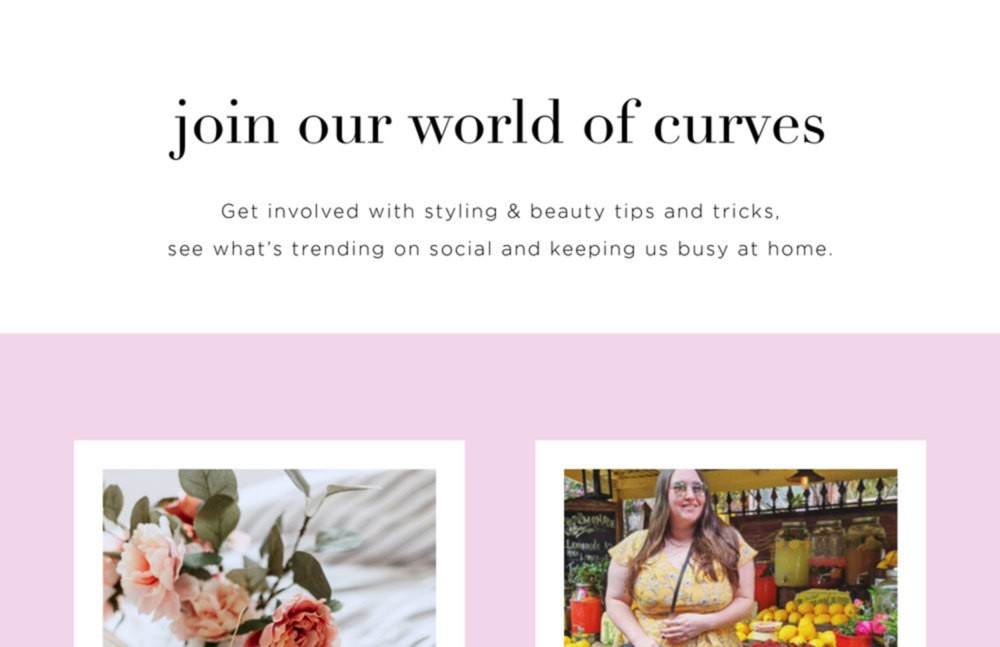 Join Our World of Curves
