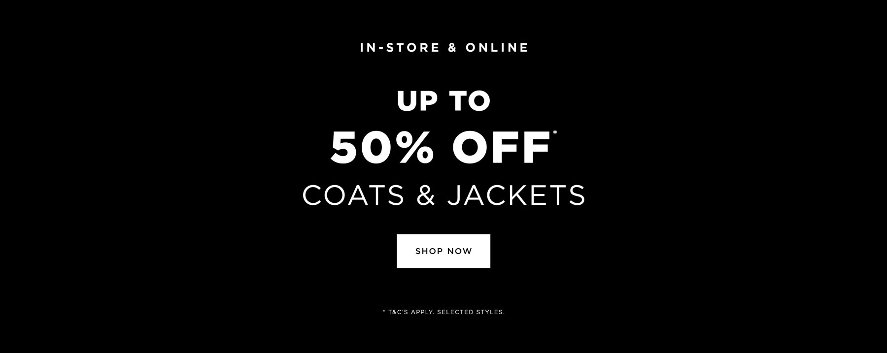 Coats offer